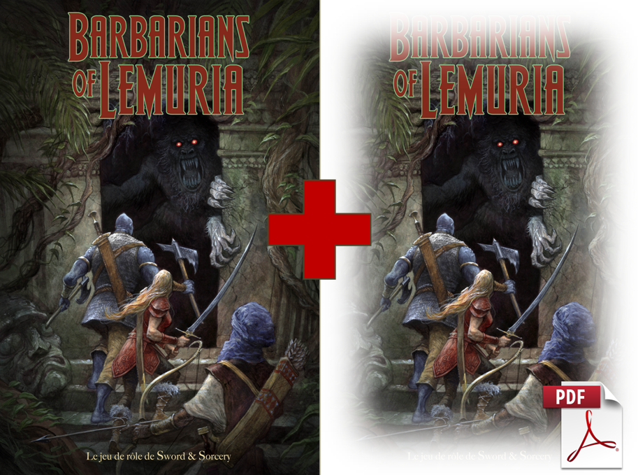 Livre de base Barbarians of Lemuria & pdf