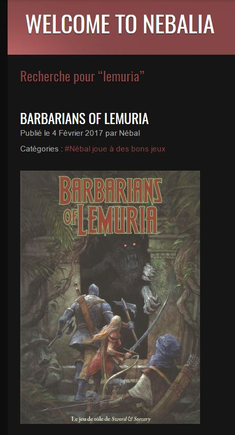Nebalia Barbarians of Lemuria